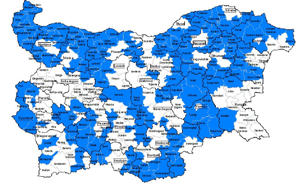 comuni bulgari alto tasso disoccupazione